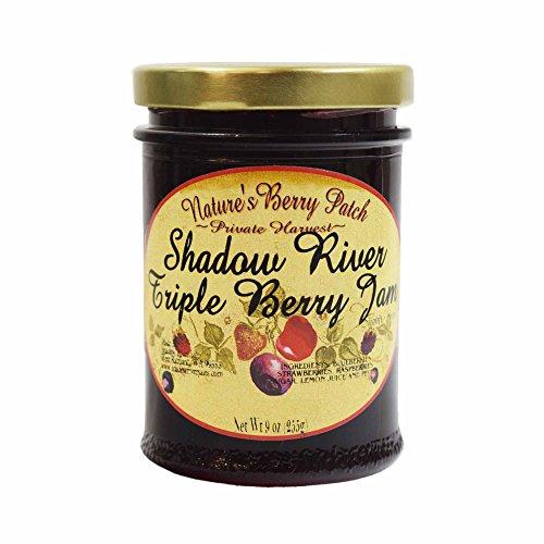 Shadow River Triple Berry Gourmet Jam 9 oz - Blueberry, Strawberry, Raspberry by Shadow River