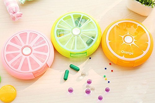 GreenSun(TM) Portable Pill Medicine Case Storage Box Organizer (Random color)