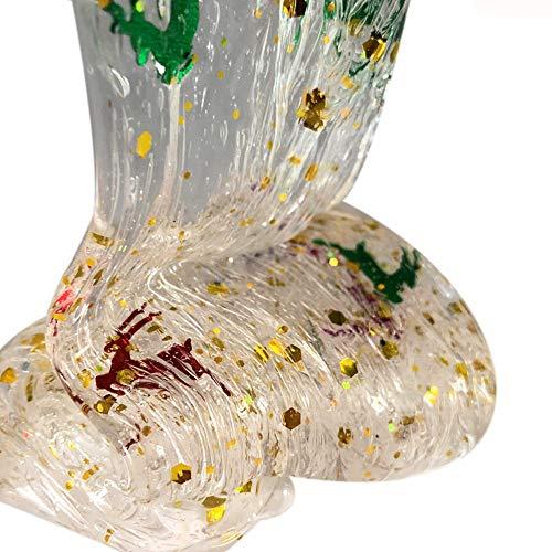 VOWUA Slime Christmas Series Snowflake Deer Christmas Tree Slime Putty Relieve Stress Kids Clay Toys -
