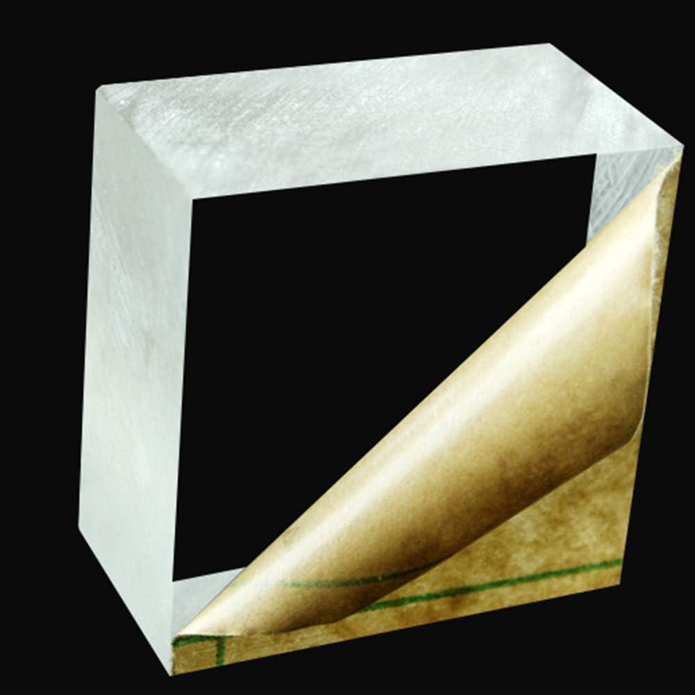 100x100mm Fly-Fiber Perspex Plexiglas Kunststoff Glasscheibe 2ST mit Schutzpapier f/ür DIY-Anzeige Dicke 10 mm,Size