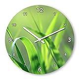 Blades Of Grass Wooden Wall Clock Silent Non-ticking Wall Clocks Decorative for Living Room Bedrooms Nursery Clock Children Watch