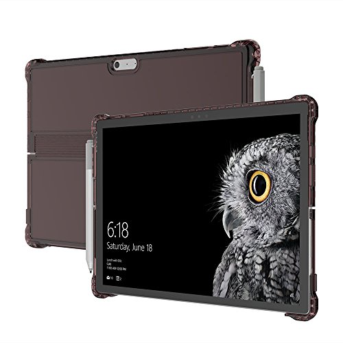 Incipio Octane Pure Case fits both Microsoft Surface Pro (2017) and Surface Pro 4 - Burgundy (Material Surface)