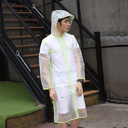 Opzionali Singolo colore Dimensioni Zzhf Rosa Escursionismo Poncho Trasparente Per Impermeabile 3 Giallo Lungo Adulti Yuyi Cappotto Xl Smerigliato Ywxq1AROw