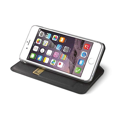 Celly AIRIP6SBK Air Case Eco-Ledertasche Ultra dünn für Apple iPhone 6/6S schwarz
