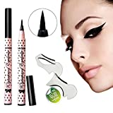 TOPBeauty Black Eyeliner Waterproof Liquid Make Up Beauty Comestics Eye Liner Pencil Pen With Free cat eyeliner stencils