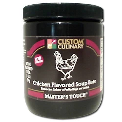 Custom Culinary Master's Touch Chicken Low Sodium Base, 16-Ounce Plastic Jars (Pack of 6) by Custom ()