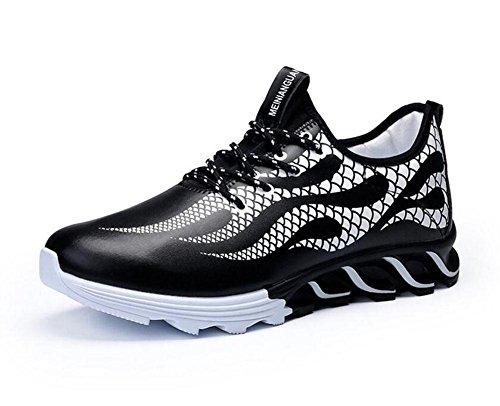SHIXR Männer Lässige Sportschuhe Europäische Stil Trend Laufschuhe Blade Herren Schuhe Fitness Schuhe Basketball Schuhe , black , 41