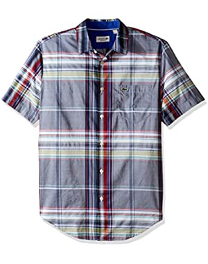 Men's Short Sleeve Resort Plaid