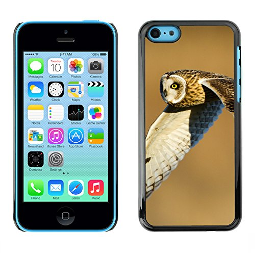 Premio Sottile Slim Cassa Custodia Case Cover Shell // F00016836 hibou volant // Apple iPhone 5C