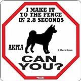 Akita 2.8 Seconds Sign