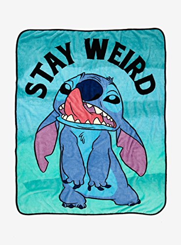 Disney Lilo & Stitch Stay Weird Throw Blanket
