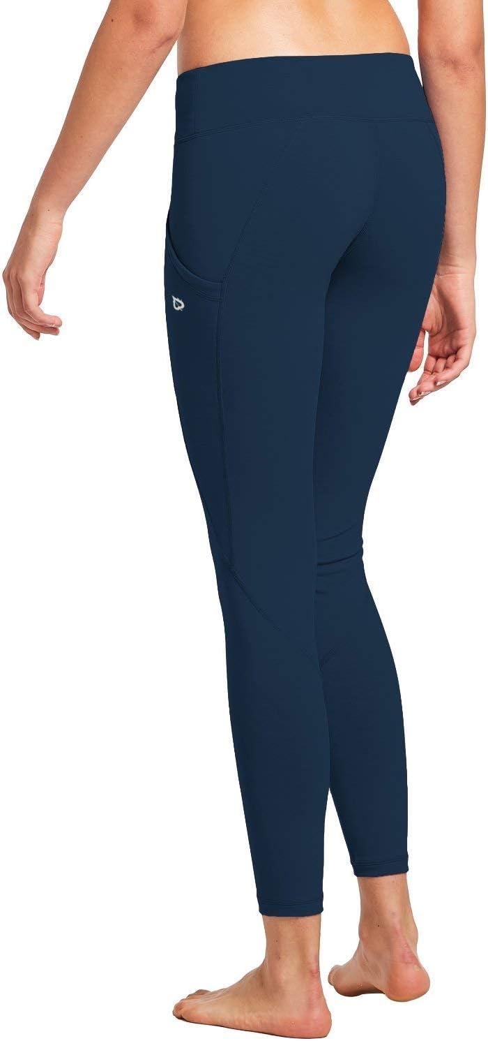 Baleaf pour Femme Taille Haute Yoga Legging Poche int/érieure Non Transparent Tissu
