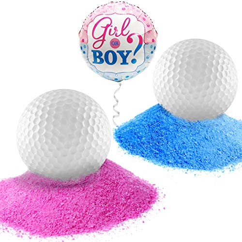 Gender Reveal Golf Balls Exploding Pack of 1