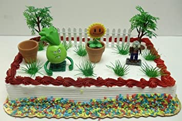 Plants Vs Zombies Birthday Cake Topper Set Featuring 3 RANDOM Plants