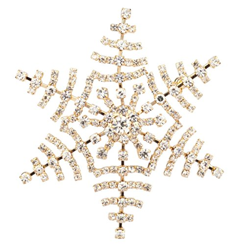 Bow Pin Pave (Lux Accessories Frozen Snow Flake Pave Xmas Christmas Pin Brooch Snowflake)