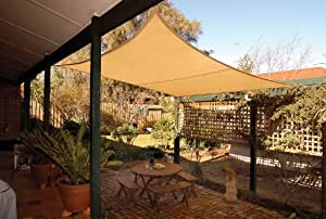 Coolaroo Square Shade Sail 11 Feet 10 Inches with Hardware Kit, Desert Sand