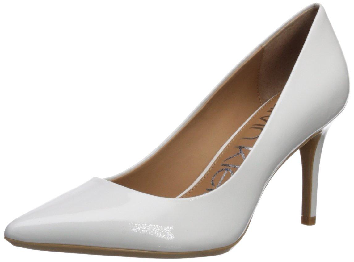 Calvin Klein Women's Gayle Pump B075TML8NJ 7.5 B(M) US|Platinum White Patent