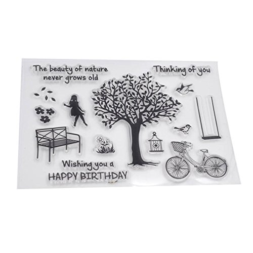 We-buys Kawaii Transparent Silicone Stamp Clear DIY Scrapbooking Craft Stamps