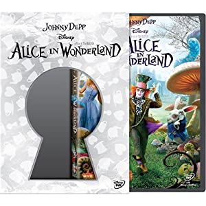 Disney Alice in Wonderland (Blu-ray) 3 Disc Combo Pack Best Buy Version Keyhole Slipcase and 6 Character Cards