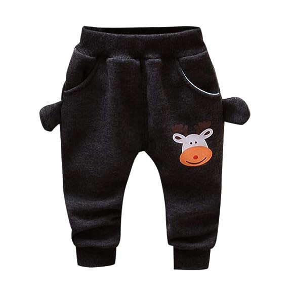 Pantalones Otoño Invierno para Unisex Bebé Niños Niñas 2018 Moda PAOLIAN Ropa para Niños Espesar Cálido Navidad Fiestas Pantalones de Pijama 12 Meses 24 ...