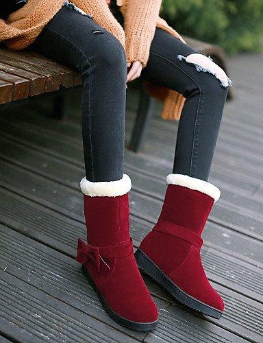 Casual Wool 5 da Nero Giallo Vestito tonda Uk5 Punta 5 Cn38 Platform donna XZZ Stivali Rosso Eu38 Giallo us7 Trendy Scarpe a4wIq4O