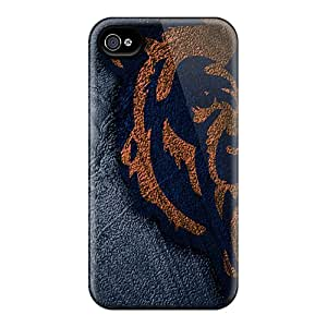 Excellent Cell-phone Hard Covers For Iphone 4/4s With Allow Personal Design Trendy Chicago Bears Skin RichardBingley