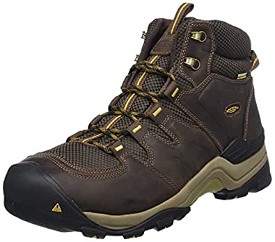 KEEN Shoes Men's Gypsum II Mid WP Shoes, Brown (Coffee Bean and Bronze Mist), 8 AU/US