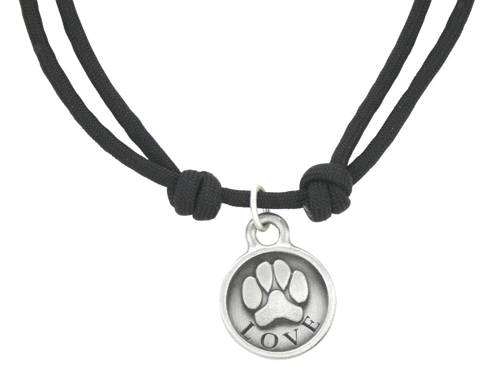 Zelda's Song Love Paw Rope Necklace, Black