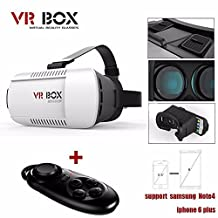 SmartEraPlastic Version Focal and Pupil Distance Adjustment VR Glasses ,Google Cardboard 3D VR Virtual Reality VR Glasses with QR Code for iPhone Samsung Moto LG Nexus HTC