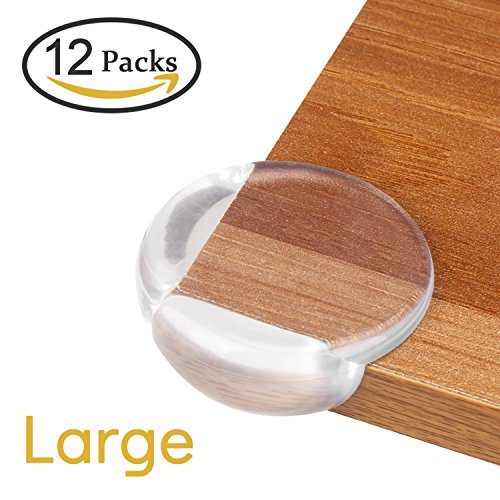 Corner Protector 12pcs Large Baby Proofing Safety Corner Protectors Table Corner Guards for Child with 42pcs Advanced Strong Stickers