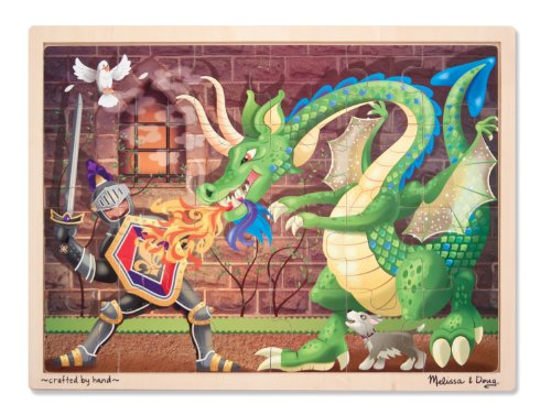 Melissa & Doug Knight vs. Dragon Wooden Jigsaw Puzzle With S