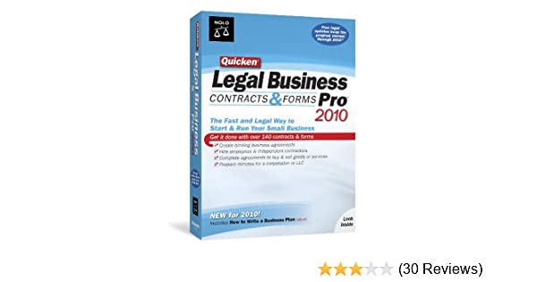 Amazoncom Quicken Legal Business Pro Old Version - Legal forms software reviews