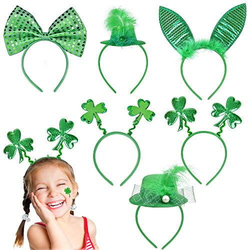 6 Pcs St. Patrick's Day Decorations Set Irish Headband - One Size Fits All for St. Patrick's Day Accessories, Party ()