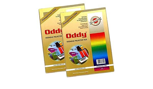 ODDY A4 talla High Grade transparente claro hojas película ...