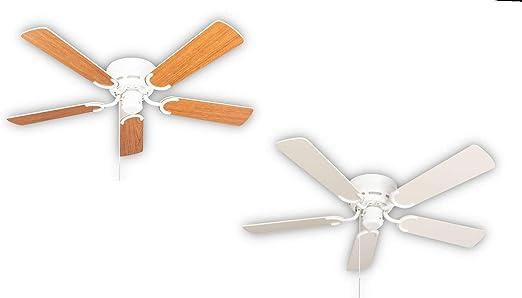 Kisa Deluxe - Ventilador de techo (sin luz, aspas de arce, incluye ...