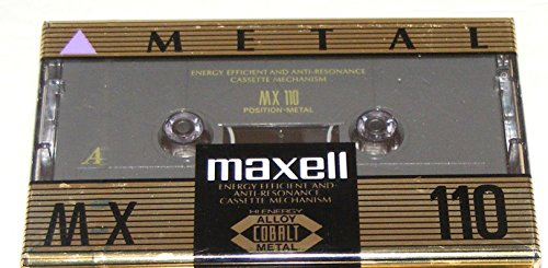 Maxell MX 110 Type IV Metal Audio Cassette Tape