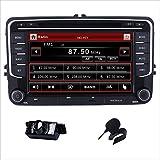 HD 7 Inch Double Din Car Stereo GPS DVD Navi for VW Jetta Passat Golf Beetle Caddy Tiguan Scirocco Octavia Altea Touran Amarok EOS Touch Screen Handsfree Bluetooth Map+Camera+Mic