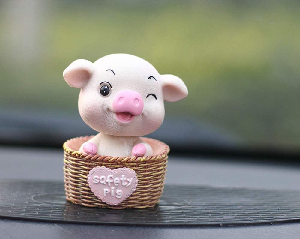 Basket Pig-A UZHOPM Cute Basket Pig Car Dashboard Decoration Car Interior Ornament Home Office Desk Decorative