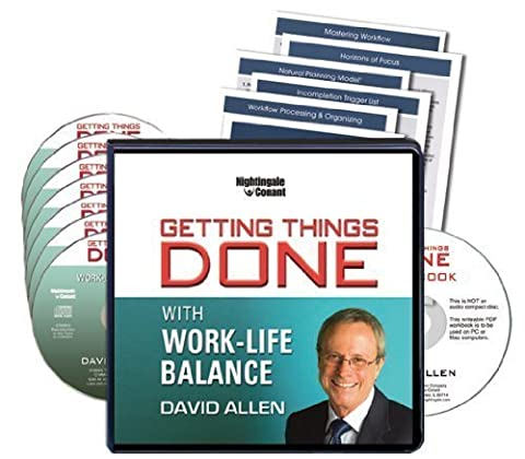 Getting Things Done: With Work-Life Balance (7 CDs, Writable PDF Workbook, GTD PDF System Guides) (David Allen Audio)