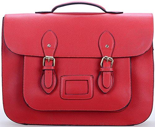 FoxLady - Bolsos mochila con lunares, para mujer liso rojo