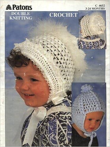 c9f2dbaa8ee7 Patons Crochet Pattern 4652   Baby Hat and Bonnet (3-24 months ...