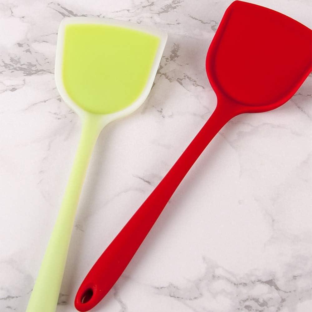 Spatel Rindfleisch Ei Küche Schaber.Weit Pizza Spatel Antihaft- Essen Heber nach Hause Kochutensilien (Color : Burgundy) Green