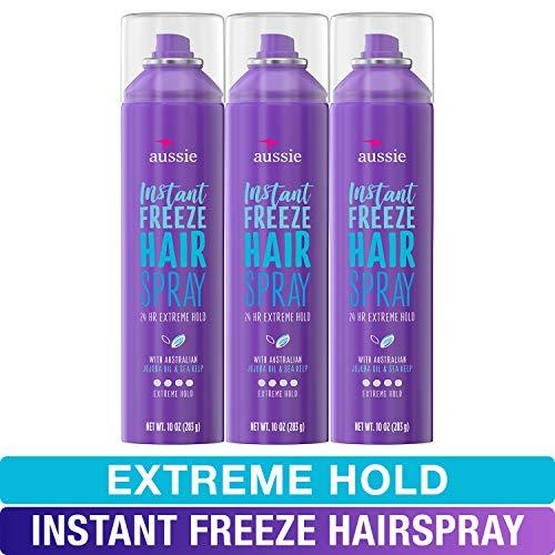 Aussie, Hairspray, with Jojoba & Sea Kelp, Strong Hold, 10 fl oz, Triple Pack Aussie Instant Freeze Hair Spray