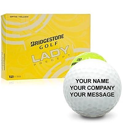 Bridgestone Lady Precept Yellow Personalized Golf Balls