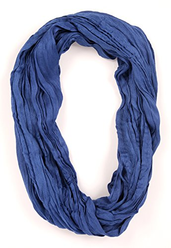 SethRoberts-Essential Solid Crinkle 100% Cotton Scarf (Cobalt Blue) by SethRoberts