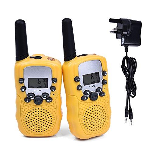 Fetoo 2pcs Kids Walkie Talkies Walky Talky PMR446 3KM Range with...