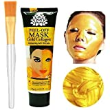 AICHUN BEAUTY 24k Gold Collagen Peel-off Facial Mask Whitening Anti-Wrinkle Face Masks Skin Care Face Lifting Firming Moisturize 4.22 Fl.oz