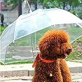 ペット用傘 ペット用品 猫用 小型犬 中型犬 レイングッズ ペット 傘 犬用傘 散歩用 レイングッズ 犬用傘 雨具 透明雨の日に散歩 リード接続 チェーンイ付き 超撥水 風邪防止