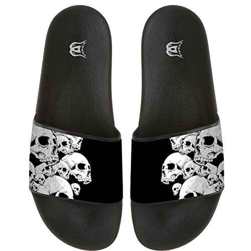Skulls Pattern Slippers Skid-proof Indoor Outdoor Flat Flip Flops Beach Pool Slide Sandals For Men Women