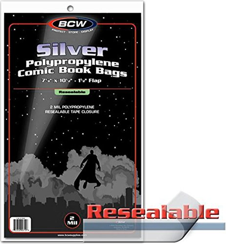 BCW SIL R Silver Comic Sleeves Resealable